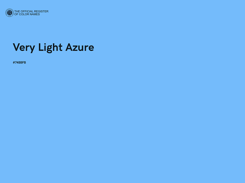 #74BBFB - Very Light Azure color image