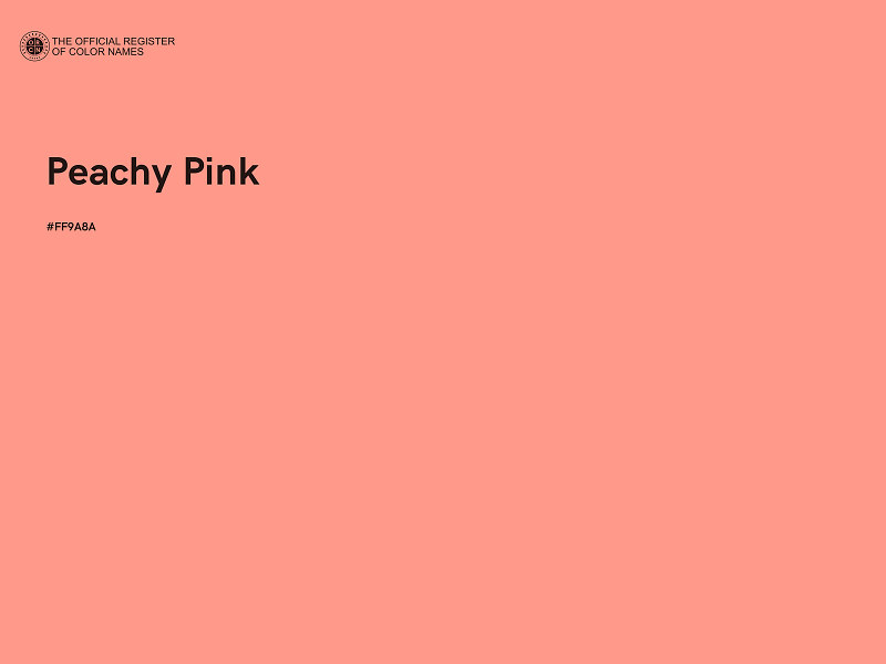 #FF9A8A - Peachy Pink color image