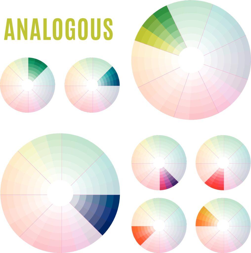 Analogous Color wheel scheme