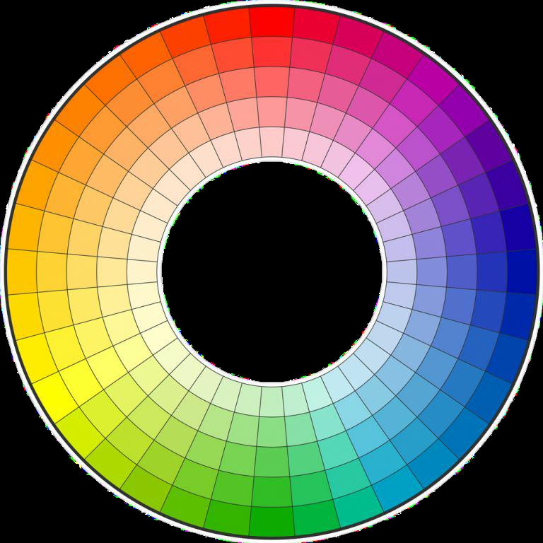 HEX color wheel