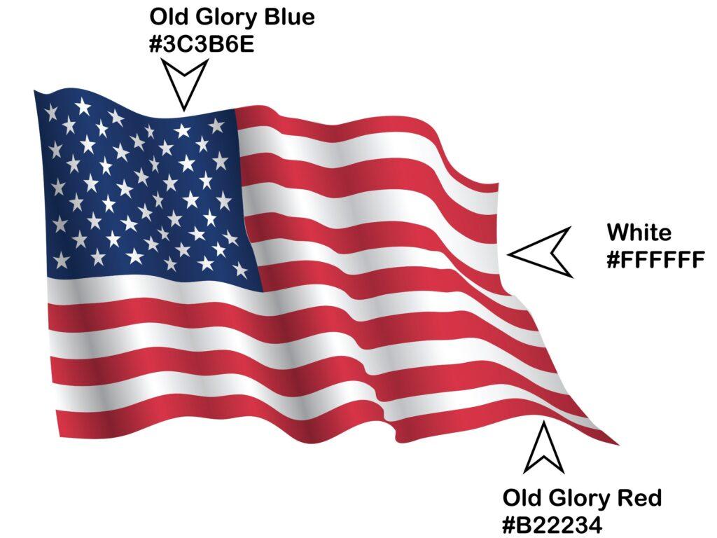 US Flag Color Names